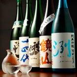 日本酒の銘酒を多数ご用意
