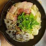 【冬の季節メニュー】ホエー豚ベーコンのポトフ