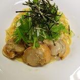 【冬の季節メニュー】ホタテと白菜の和風クリームパスタ