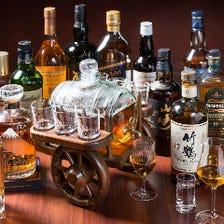 世界のウイスキーが300本以上♪