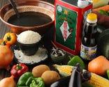 魚、野菜は勿論、卵、肉、調味料等も出来る限り地場産をお届け!