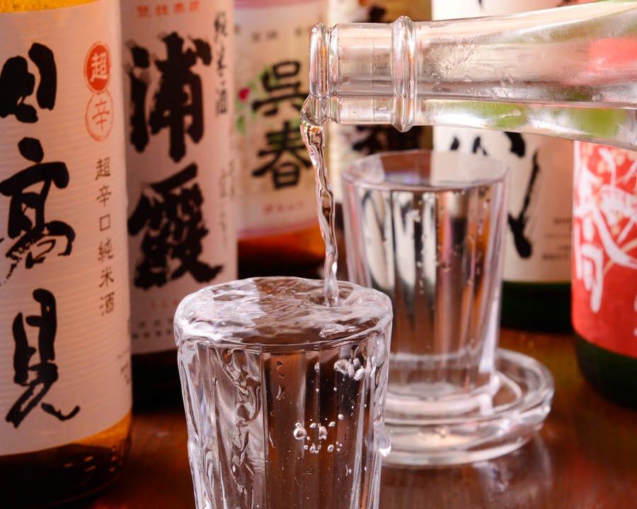 日本酒、梅酒、焼酎の数は藤沢イチ!