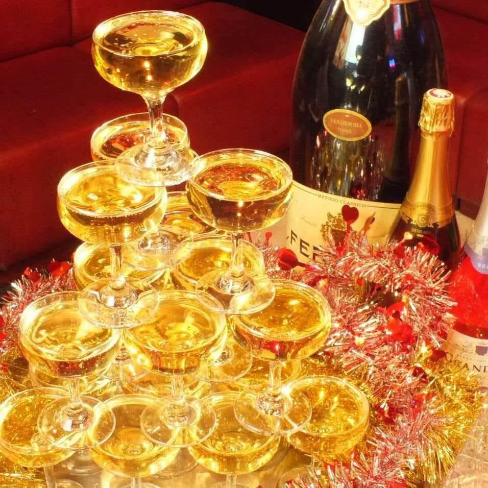 シャンパンもテキーラも飲み放題♪