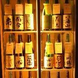 料理を演出する地酒。田酒や獺祭などの銘酒をこだわりの酒器で。