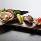 たいらぎ貝酢の物 伊佐木味噌幽庵焼き