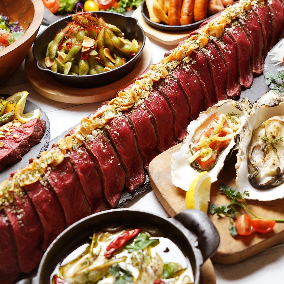肉料理やチーズ料理の食べ放題プラン
