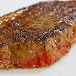 本格ステーキに舌鼓