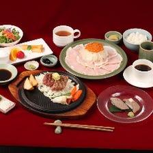 【誕生日・記念日】ステーキ2種類・牛のお寿司『ヘレとサーロインの贅沢コース』全9品/6264円(税込)~
