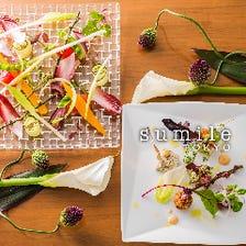 【B おすすめコース】当日入荷の新鮮食材を♪前菜からデザートまで堪能できるシェフお勧めコース 全6品