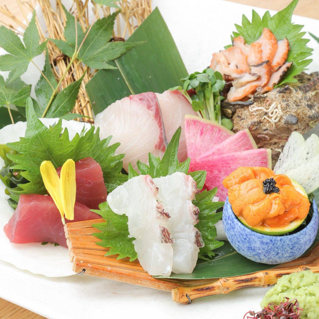 旬の食材を使用した季節の逸品をご用意!!