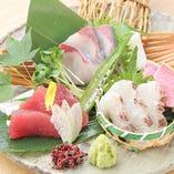 鮮魚の造り盛り合わせ