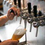 月~木17時~18時30分はハッピーアワー!クラフトビールは100円引き、キリンラガービールは200円引きで飲めます★