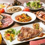 ガッツリ食べられるステーキに、旬の旨みが詰まったパスタ、定番で人気の唐揚げなど、飲む人も飲まない人も大満足な内容です。
