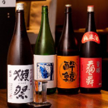日本酒は季節に合わせて入れ替えております!