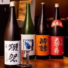 獺祭などの日本酒も飲み放題で◎