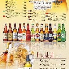 約20種類の世界のビールを飲み比べ