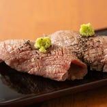 最近人気がうなぎのぼり!牛肉炙り寿司