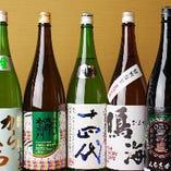 各コース価格+1,000円で、厳選地酒も飲み放題に!