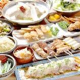 自慢の逸品料理含む2時間飲み放題付コースは4000円~ご用意!