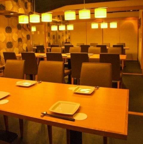 テーブル席・完全個室(壁・扉あり)・10名様~35名様