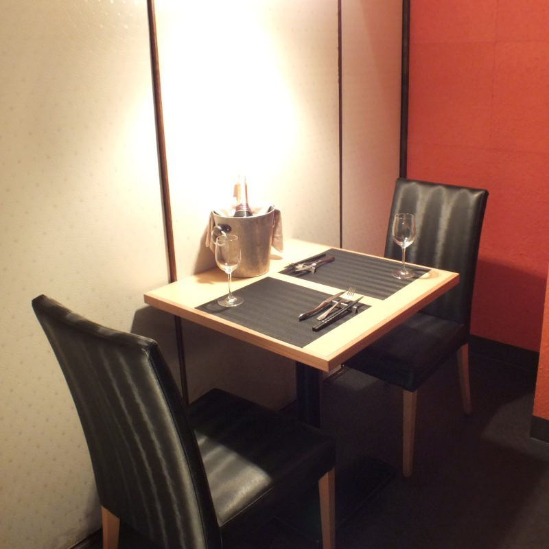 テーブル席・完全個室(壁・扉あり)・2名様