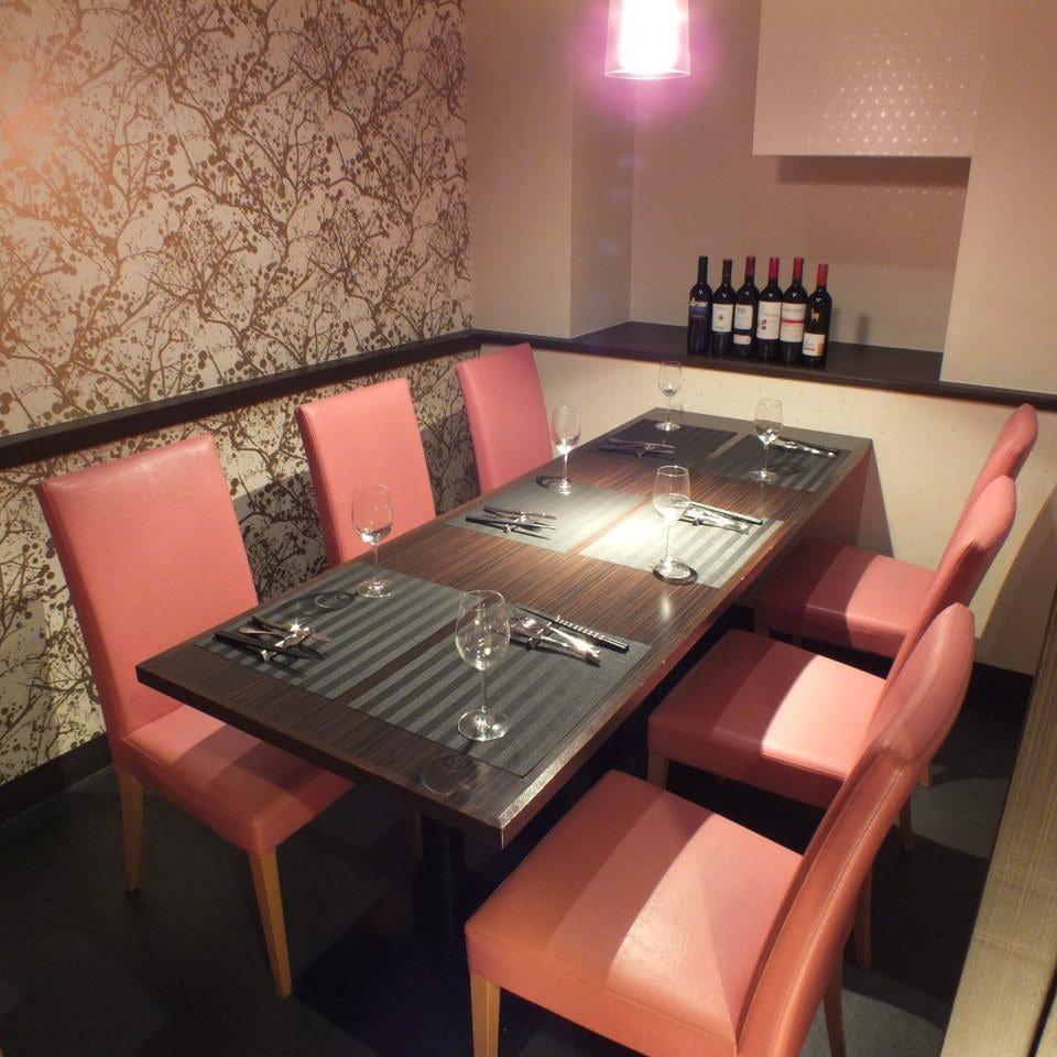 テーブル席・完全個室(壁・扉あり)・4名様~6名様
