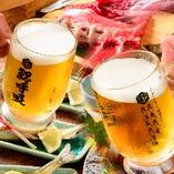 2時間飲み放題1800円ドリンク40種超、生ビールもOK。要クーポン