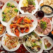 海老料理が楽しめる宴会コース