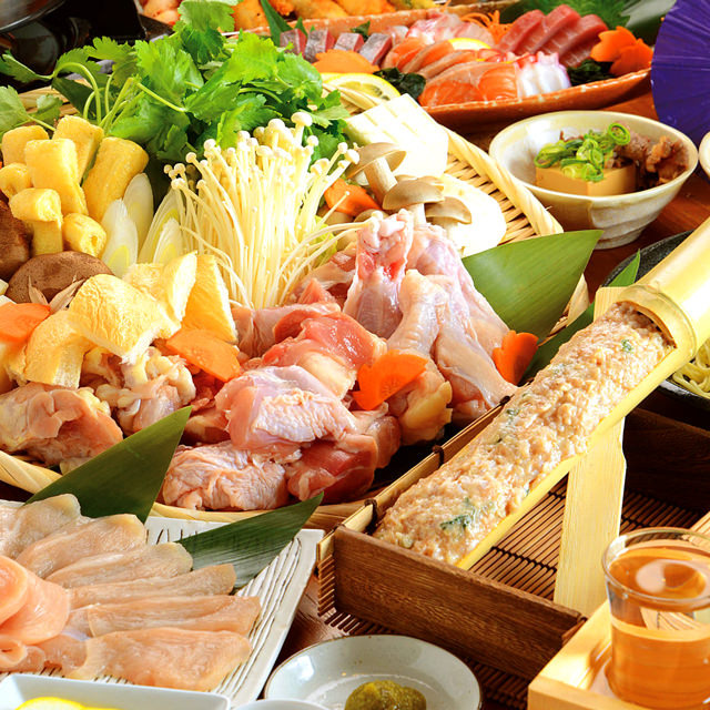 【和-nagomi-コース】名物!地鶏料理◎3時間飲み放題付9品5000円→4000円