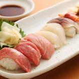 【限定5食】本日のネタで握る寿司盛り合わせ 9貫1,080円(税抜)