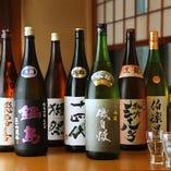 季節物や貴重な銘酒など日本酒にはとにかくこだわっています!