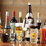 【飲み放題】 ビール、日本酒、焼酎など種類豊富なラインナップ