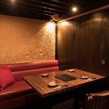 〈完全個室〉全5部屋の寛ぎの空間
