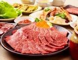 極上焼肉が味わえる♪ 宴会は飲放付で3,980円~。