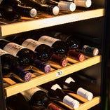 ワインはセラーを完備し管理しております