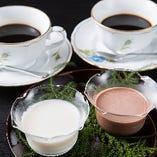 コーヒーと日替わりデザート
