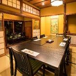 伝統の和の趣を残しつつ、テーブル席でのお食事が楽しめます