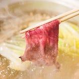 しゃぶしゃぶ、すき焼きにはA4ランクのお肉を使用