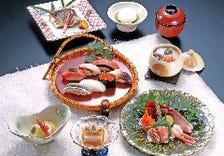 新鮮な海の幸と季節料理を堪能