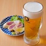 ビールと相性が良いメニューも多数