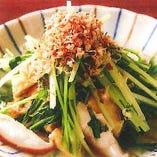 京水菜とおあげの煮浸し