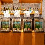特別な日本酒サーバーを使ってご提供しています