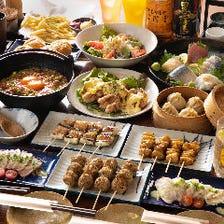 【3時間飲み放題付◆完全個室あり】串焼き7本やとり亀名物親子丼など<全7品>『厳選贅沢コース』