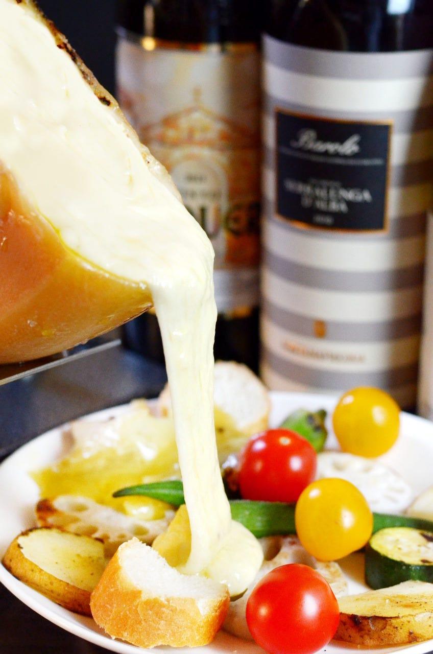 有機野菜トロトロのラクレットチーズのたっぷりがけ!美味ー♪
