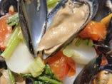 ムール貝のシェリー蒸し