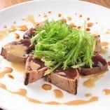 鰹の中華風カルパッチョ 芝麻醤のソース