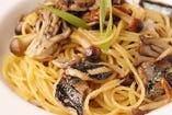 牡蠣と百合根の柚子胡椒パスタ