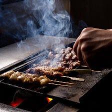 京赤地鶏・朝引き・炭火焼