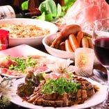 イタリアンを中心とした当店自慢の料理がズラリと並ぶコース