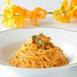 濃厚なソースがたまらない生雲丹のスパゲッティ